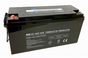 Centrac Dual Power AGM Accu 12V 165Ah (C20) MB12-165