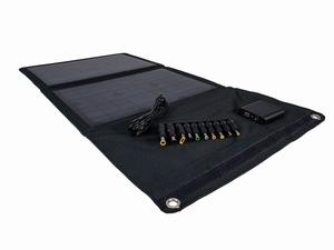 21 Watt Zonnepaneel USB Telefoon Tablet Oplader Zwart