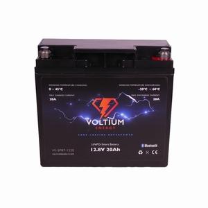 Voltium LiFePO4 Batterij 12,8 Volt 20Ah 256Wh BMS en App