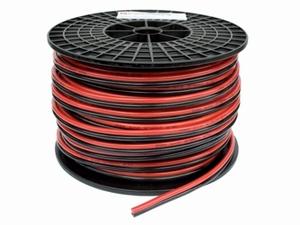 TwinFlex Snoer 2x 2,5 mm2. (rol van 100 meter) rood/zwart