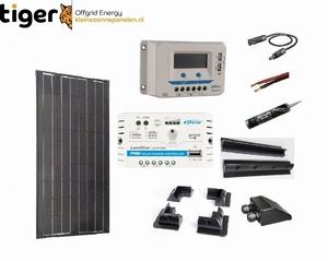 100 Watt Zonnepaneel Set Mono Full Black 1190x540 mm