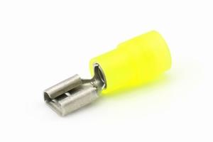 Vlakstekerhuls geel voor 4 - 6 mm² draad 6,3 x 0,8 mm