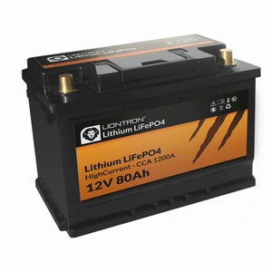 LionTron LiFePO4 12,8V 80A High Current 1200A CCA met BMS