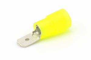 Vlaksteker geel voor 4 - 6 mm² draad 6,3 mm