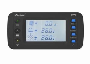 EPEVER MT-75 Remote Meter | Monitor Display Bediening