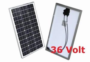 50 Watt Zonnepaneel 36V Monokristal afm: 662x460 mm.