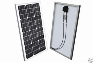 60 Watt Zonnepaneel Monokristal afm: 770x510 mm.