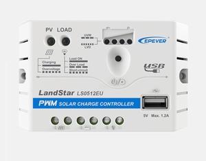 EPEVER LS0512EU 12V 5A Laadregelaar | USB Aansluiting