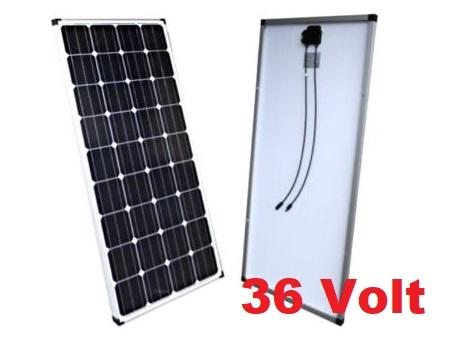 150 Watt 36V Zonnepaneel PERC Monokristal afm: 1240x670 mm.