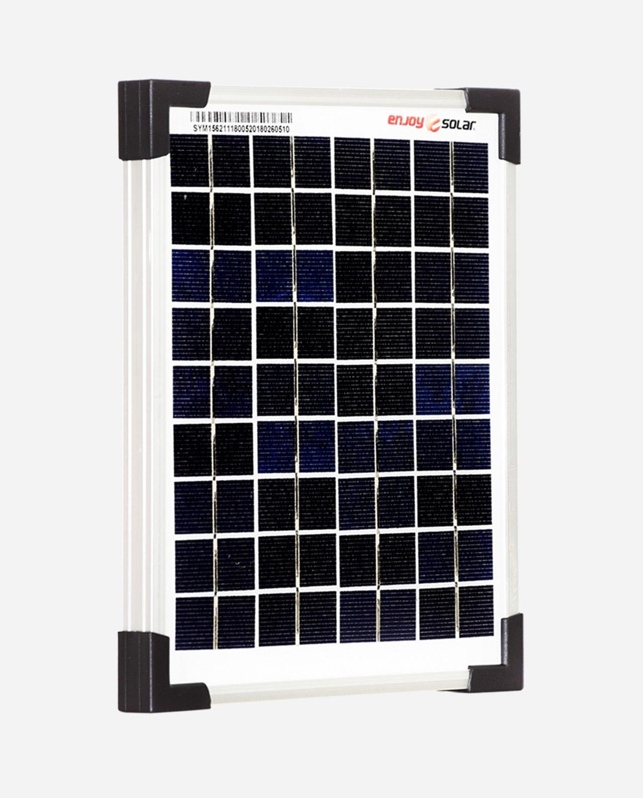 5 Watt Zonnepaneel Polykristal afm: 230x185 mm.