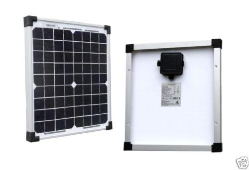 10 Watt Zonnepaneel Monokristal afm: 304x270 mm.