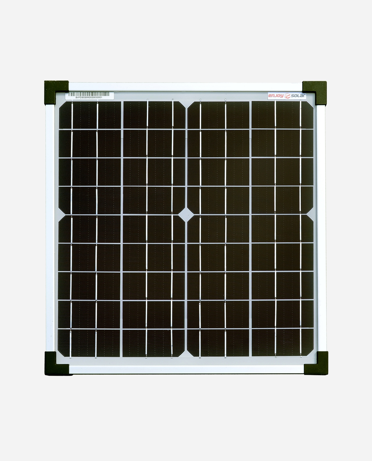 20 Watt Zonnepaneel Monokristal afm: 370x345 mm.