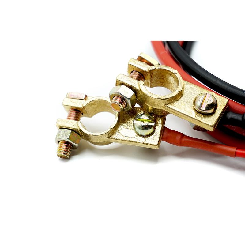 10 mm² Accu / Batterij Aansluitkabel 2m 30A/40A/50A zekering