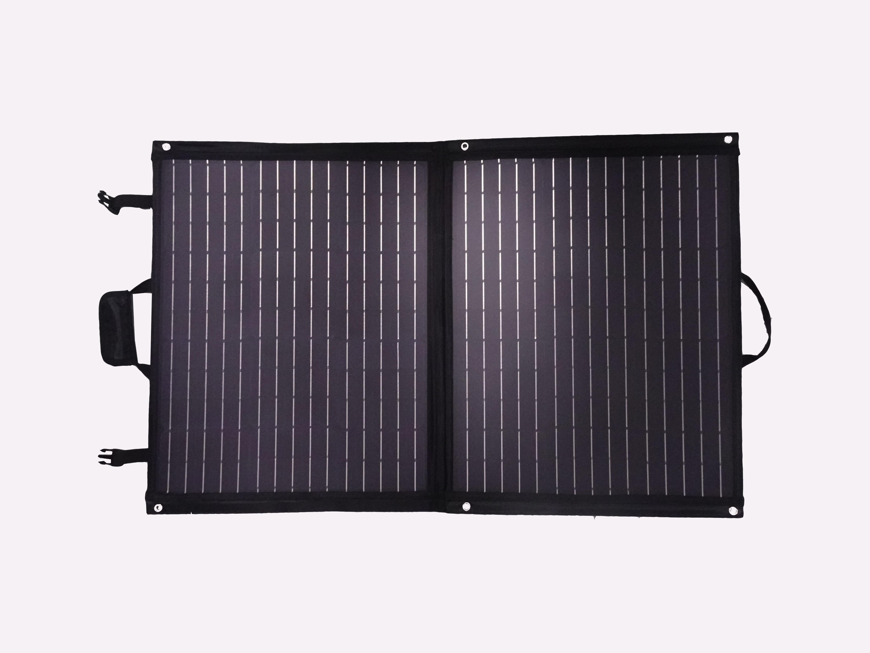 100 Watt Mobiel Portable Full Black Softcase Solartas