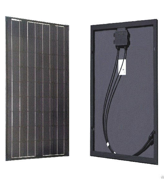 100 Watt Zonnepaneel Set Mono Full Black 1190x540 mm