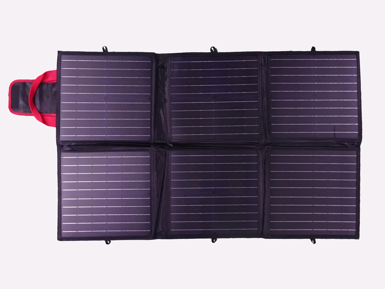 120 Watt 12V Portable Full Black Opvouwbare Solartas