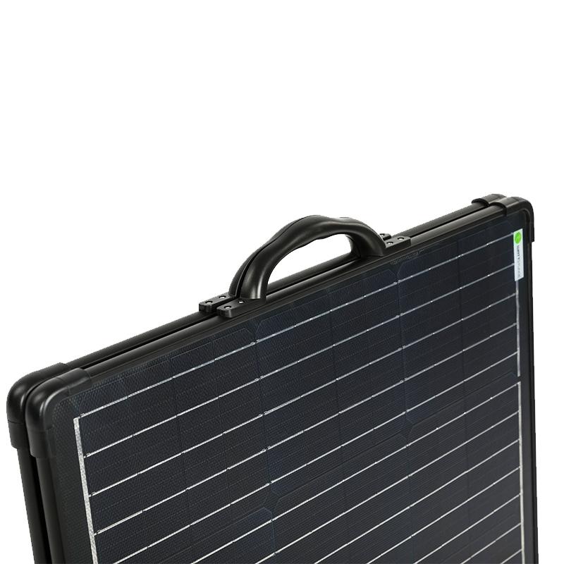 120 Watt Mobiel Portable Full Black Ultra Light Solarkoffer