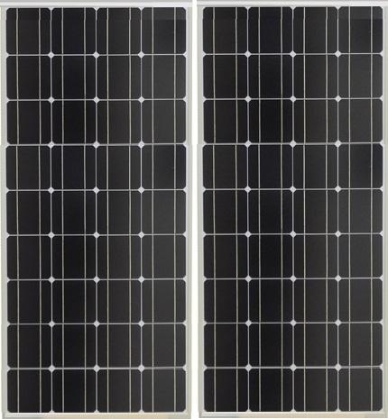 160 Watt Zonnepaneel Set Monokristal 690x1340 mm