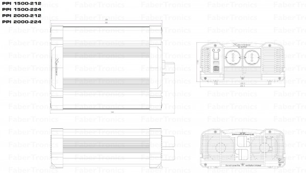 2000W Omvormer 24V naar 230V Xenteq PurePower PPI 2000-224