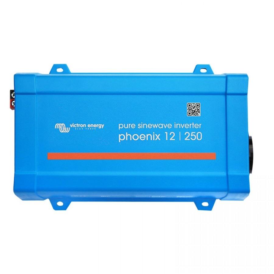 200W Omvormer 12V naar 230V Victron Phoenix 12/250