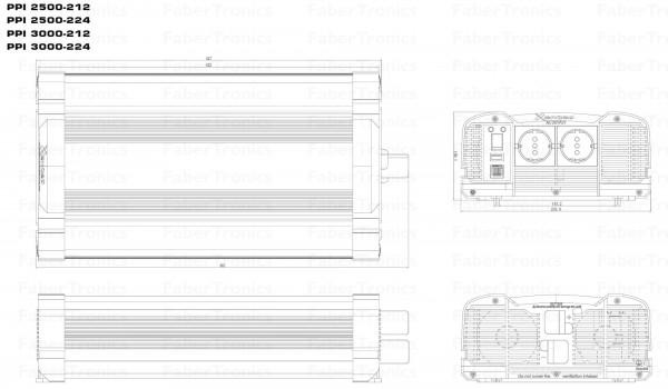 3000W Omvormer 24V naar 230V Xenteq PurePower PPI 3000-224