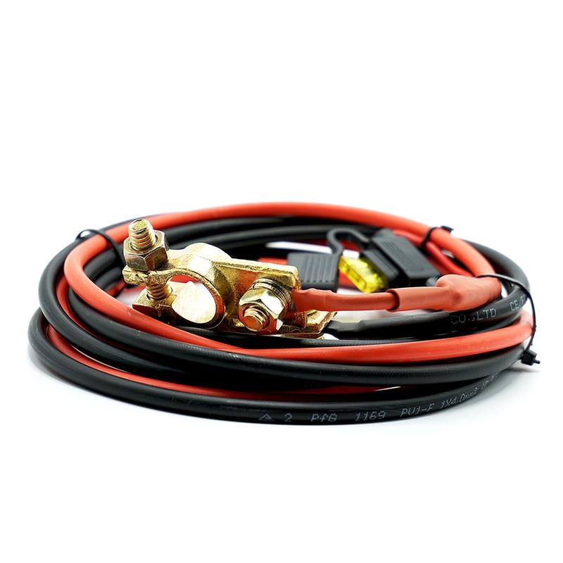 4 mm² Accu / Batterij Aansluitkabel 2m met 20A zekering