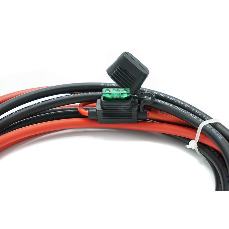 6 mm² Accu / Batterij Aansluitkabel 2m met 30A zekering