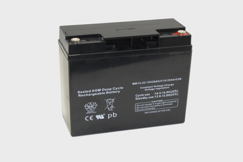Centrac Deep Cycle AGM Accu 12V 22Ah (C20) MB12-22