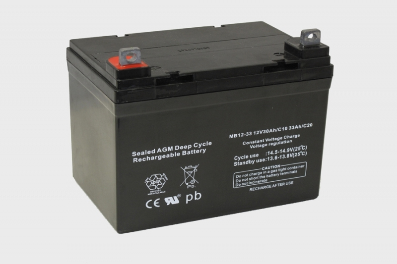 Centrac Deep Cycle AGM Accu 12V 33Ah (C20) MB12-33