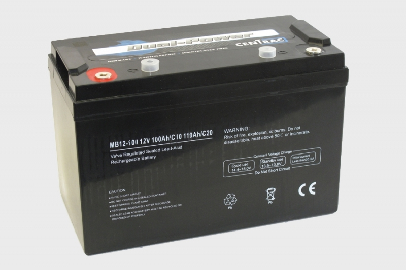 Centrac Dual Power AGM Accu 12V 110Ah (C20) MB12-110