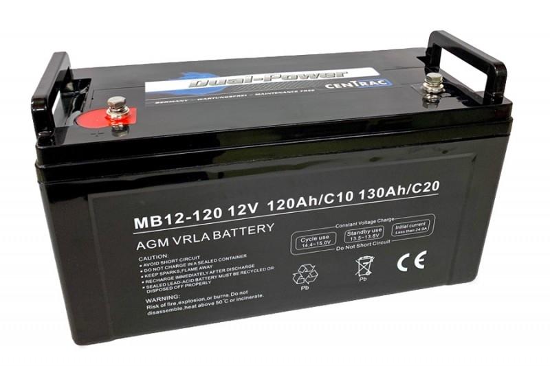 Centrac Dual Power AGM Accu 12V 130Ah (C20) MB12-120