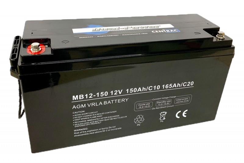 Centrac Dual Power AGM Accu 12V 165Ah (C20) MB12-150