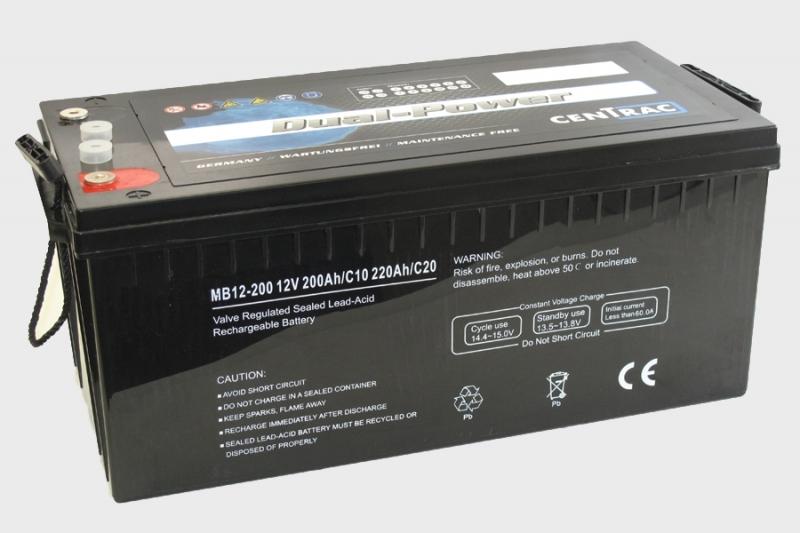 Centrac Dual Power AGM Accu 12V 220Ah (C20) MB12-200