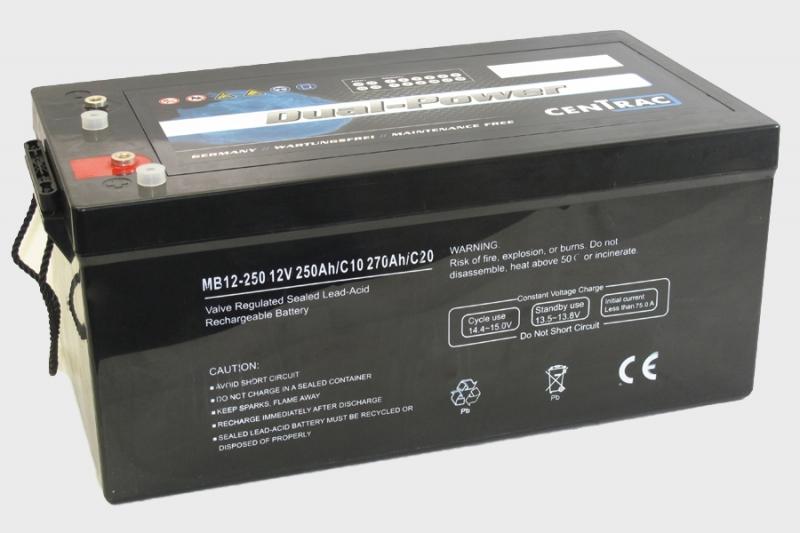 Centrac Dual Power AGM Accu 12V 270Ah (C20) MB12-250