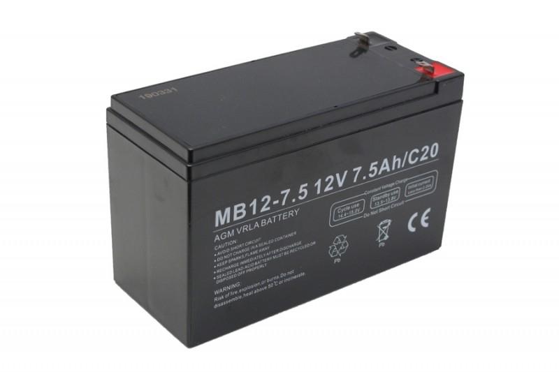 Centrac Dual Power AGM Accu 12V 7,5Ah (C20) MB12-7,5
