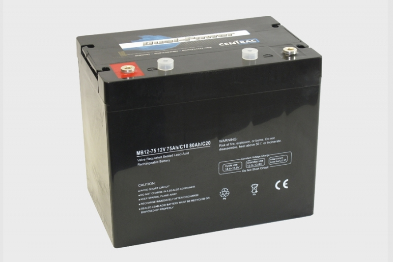Centrac Dual Power AGM Accu 12V 80Ah (C20) MB12-75
