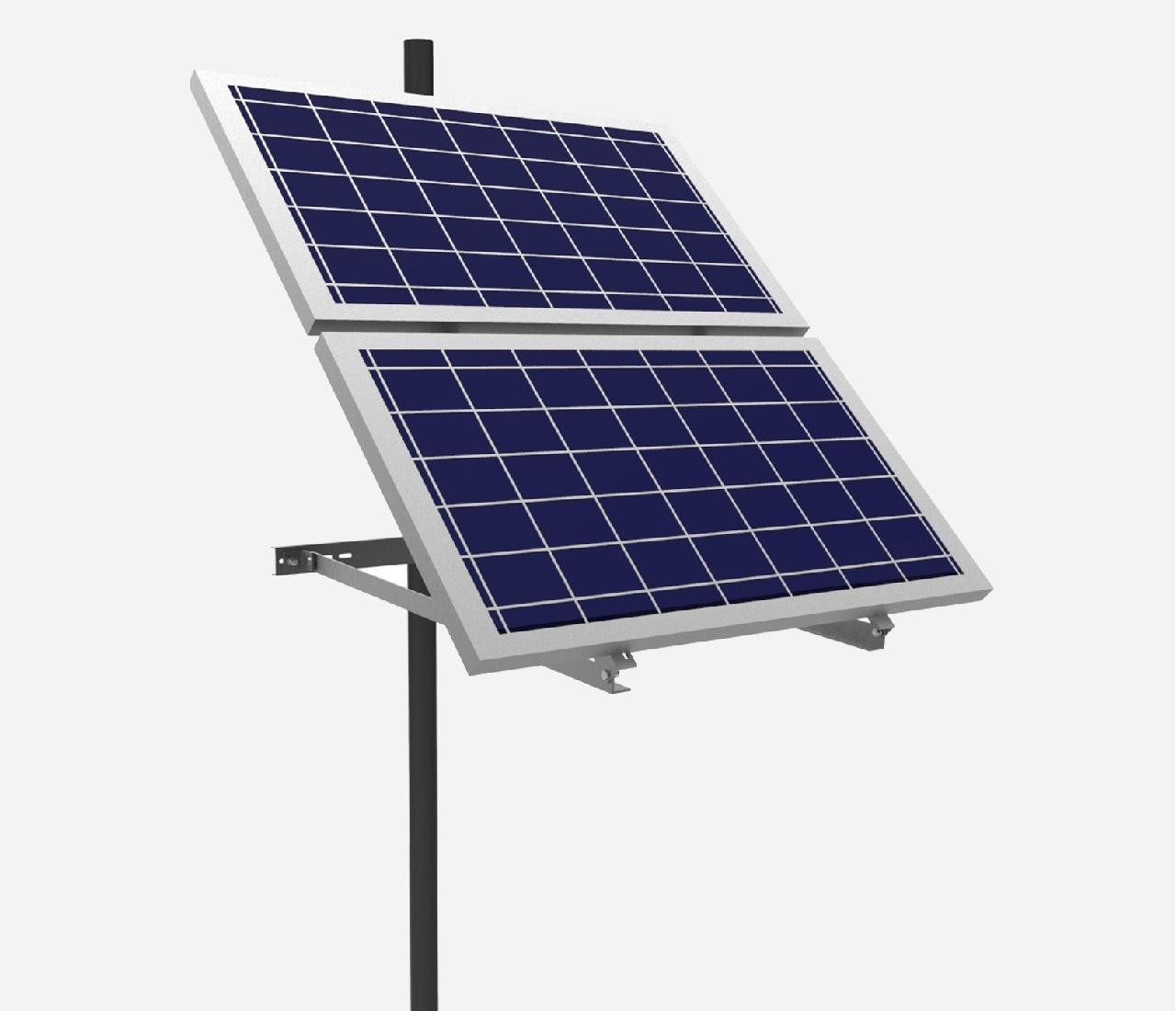 EnjoySolar® Aluminium Mastbeugel dubbel Hellingshoek 30-60°