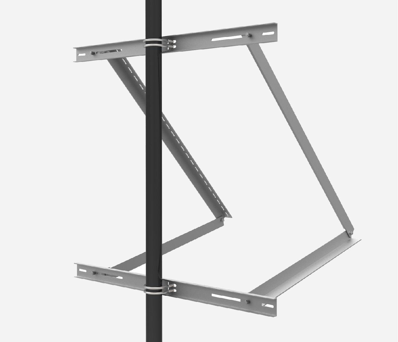 EnjoySolar® Aluminium Mastbeugel groot Hellingshoek 30°-60°