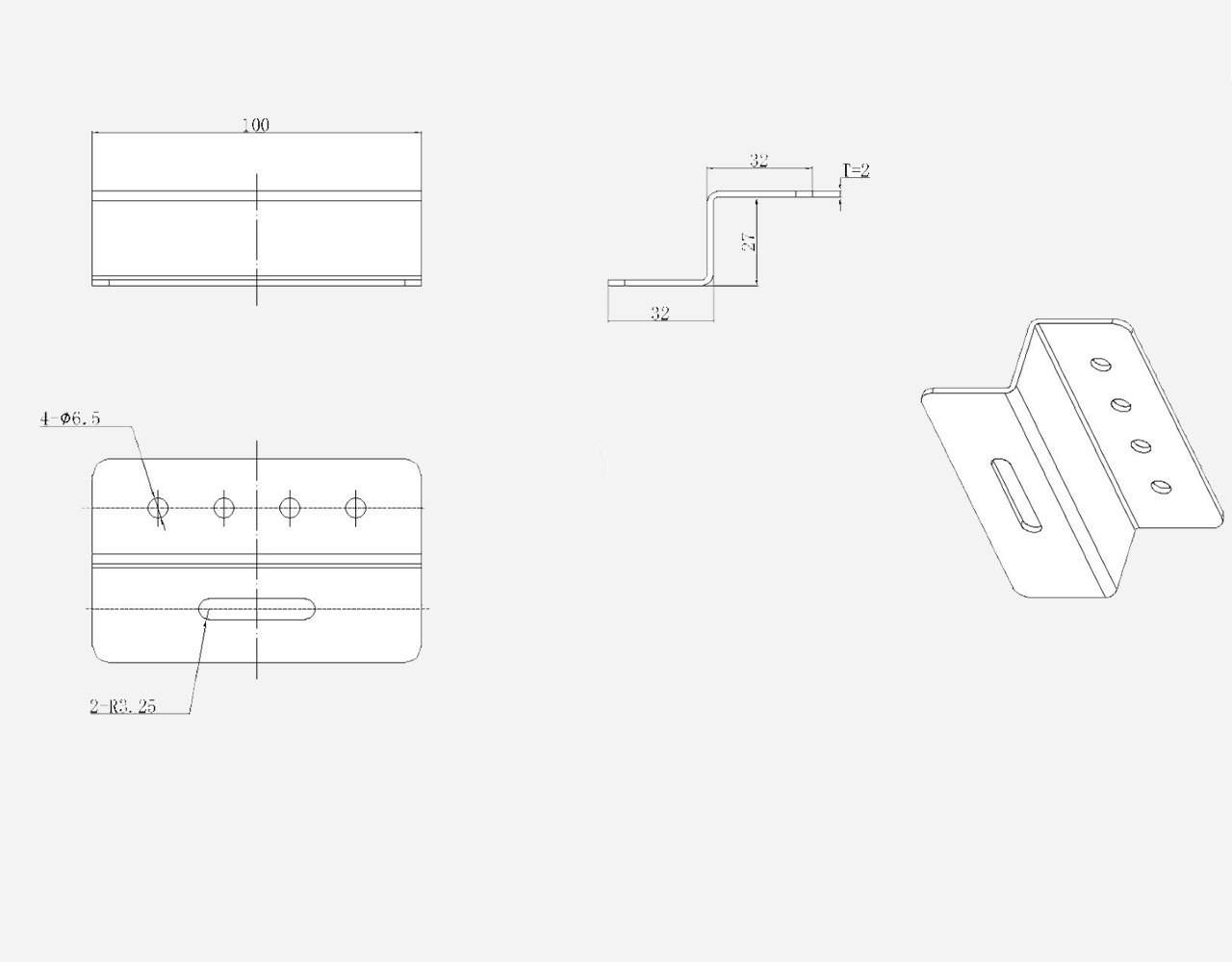 EnjoySolar® Aluminium Montage Set Z-beugels b.100mm h.30mm