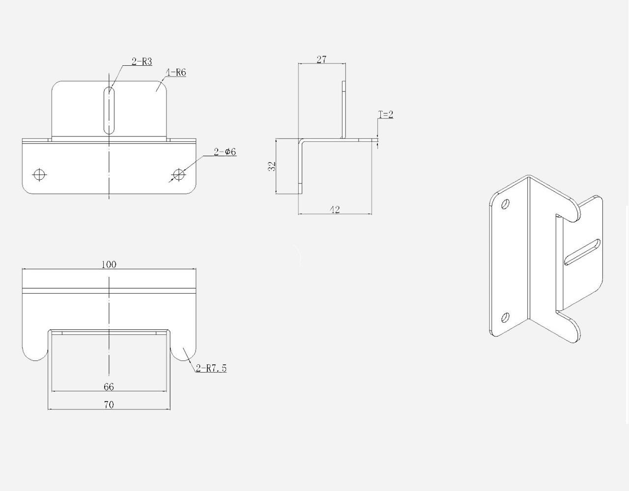 EnjoySolar® Aluminium Montage Set Z-vleugels b.100mm h.30mm