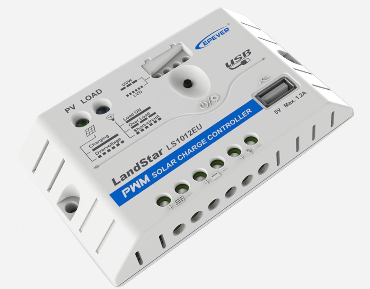 EPEVER LS1012EU 12V 10A Laadregelaar | USB Aansluiting