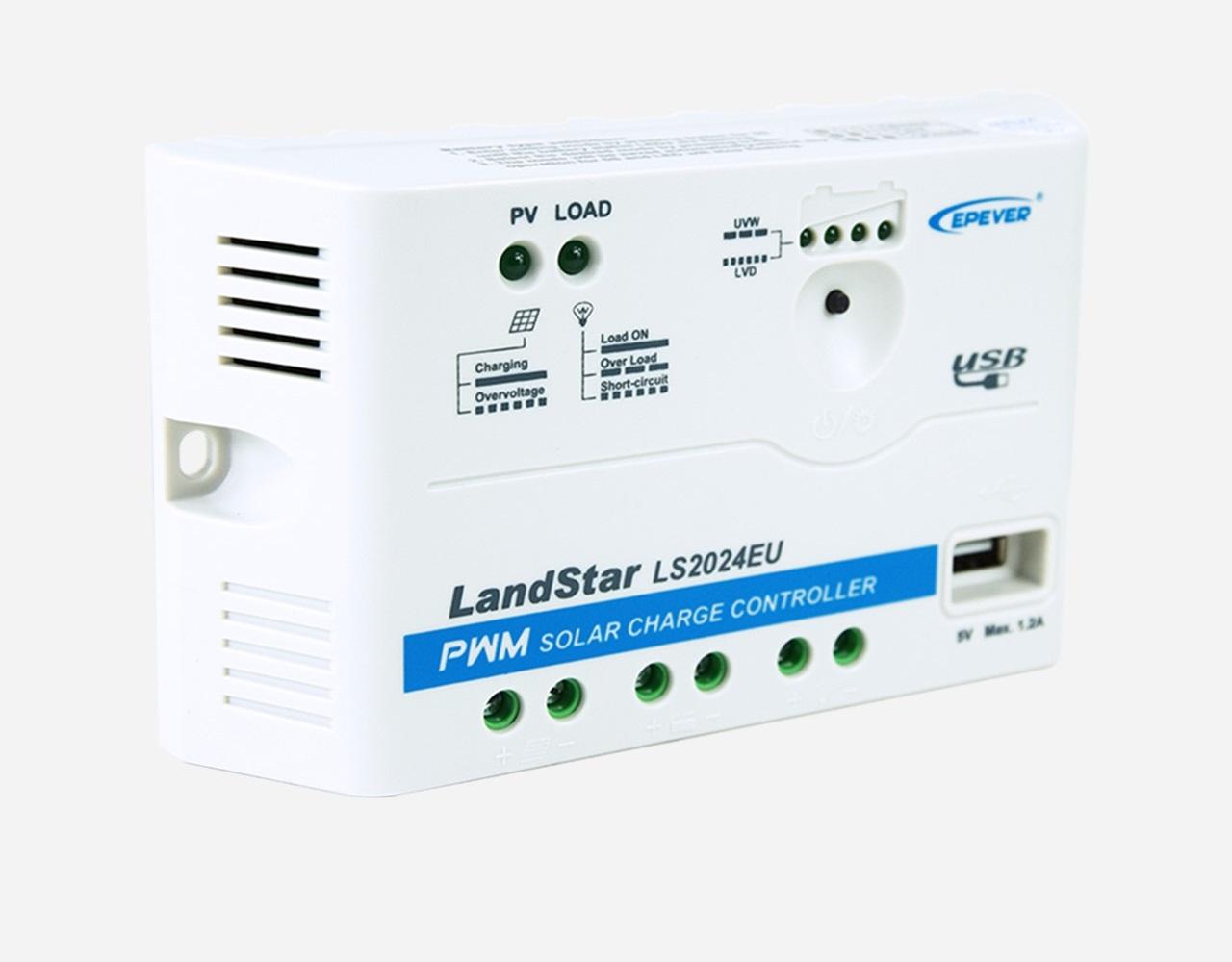 EPSolar LS2024EU 12V/24V 20A Laadregelaar   USB Aansluiting