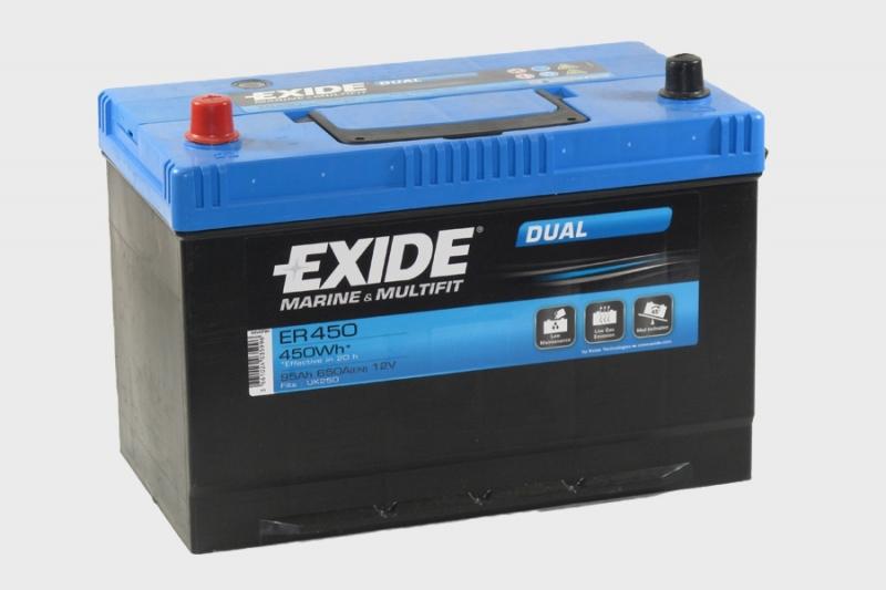Exide Dual Marine Accu ER450 12V 95Ah (C20) 650A(EN)