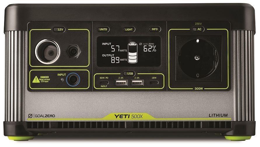 GOAL ZERO YETI 500X Lithium Portable Power Station 505Wh