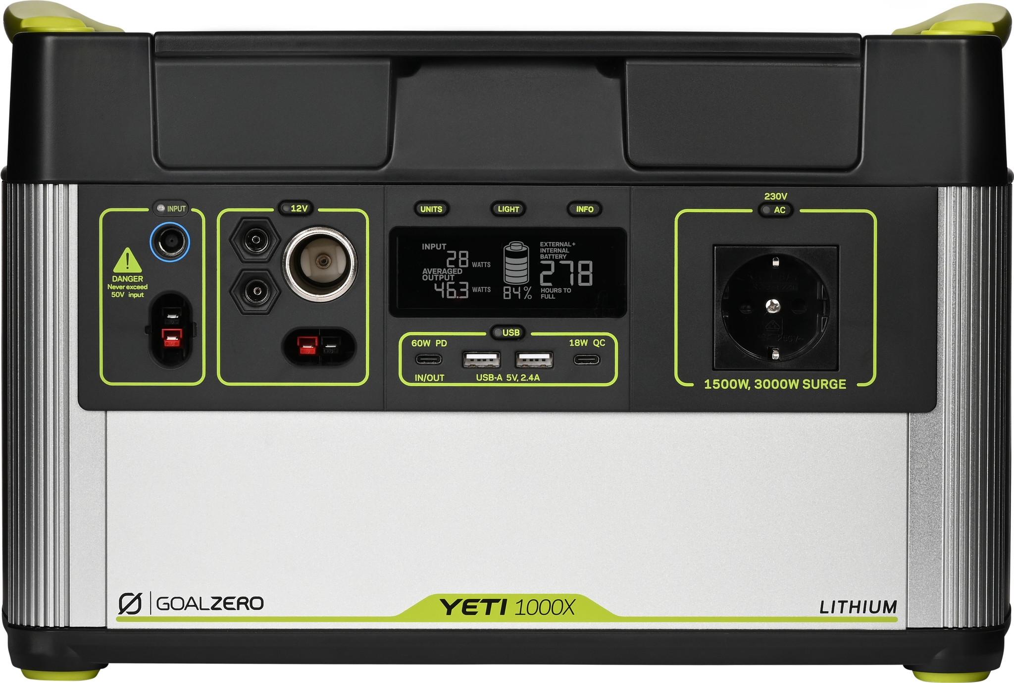 GOALZERO YETI 1000X Lithium Portable Power Station 1045Wh