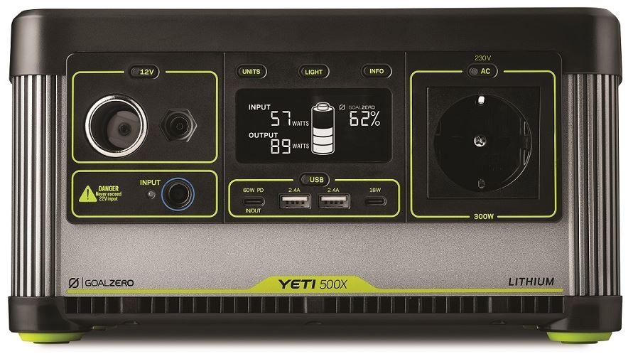 GOALZERO YETI 500X Lithium Portable Power Station 505Wh
