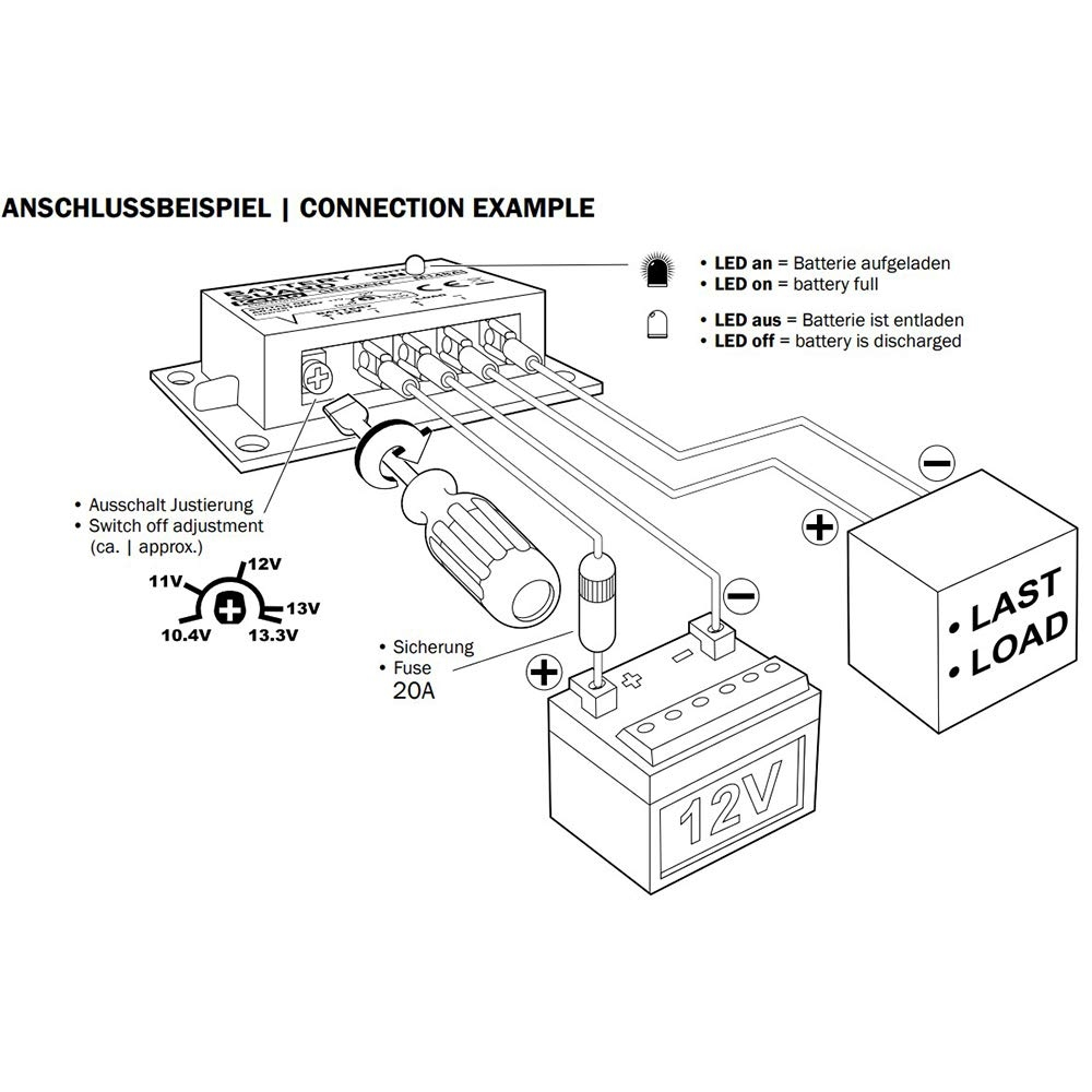 Kemo Accubewaker Battery Protect 12 Volt 10/20 Ampere