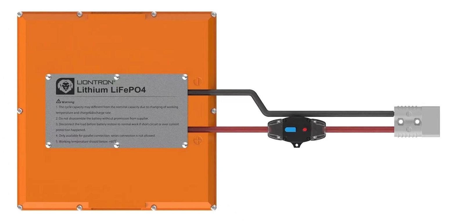 LionTron LiFePO4 12,8V 300Ah 3840Wh Camper Onder de Stoel