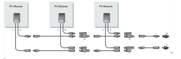 MC4 Parallel Y Connector MC4 2 in 1 draadset
