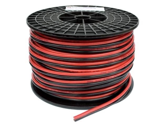 TwinFlex Snoer 2x 2,5 mm2. (per meter) rood/zwart